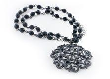 черное шикарное ожерелье Стоковое фото RF