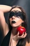 Черное яблоко стоковое фото
