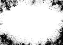 черное grunge граници Стоковые Изображения