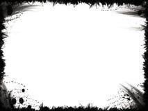 черное grunge рамки Стоковые Фото