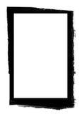 черное grunge рамки Стоковое Изображение RF