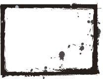черное grunge рамки иллюстрация вектора
