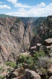 черное gunnison каньона Стоковая Фотография