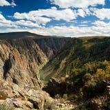 черное gunnison каньона Стоковое Изображение