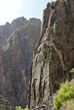 черное gunnison каньона Стоковое Изображение RF