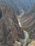 черное gunnison каньона Стоковая Фотография RF