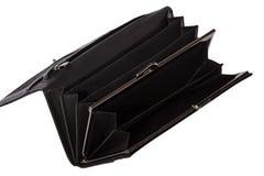 Черное men& x27; бумажник s Стоковое фото RF