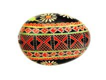 черное pysanka пасхального яйца Стоковые Фотографии RF