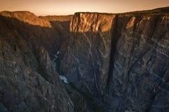 черное suset gunnison каньона Стоковые Фото
