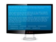 черное tft монитора сообщения ошибки иллюстрация вектора