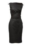 черной белизна платья изолированная женщиной Стоковые Изображения RF