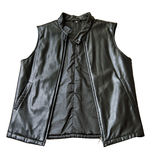черной втулки куртки проложенные кожей Стоковое Изображение