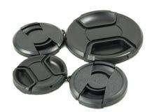черной объектив камеры изолированный крышкой стоковая фотография