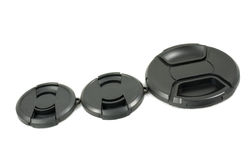 черной объектив камеры изолированный крышкой стоковые изображения rf