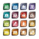 черной печенки иконы изменения медицинская предохранения от белизна просто Стоковые Изображения RF