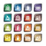черной печенки иконы изменения медицинская предохранения от белизна просто Стоковое Фото