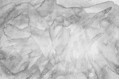Черной предпосылка конспекта краски акварели просмотренная текстурой Стоковое фото RF