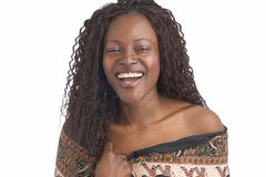 чернокожая женщина Стоковые Изображения