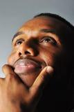 Чернокожий человек усмешки Стоковое Изображение