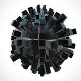 чернота абстракции 3d Стоковые Фото