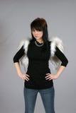 чернота ангела Стоковые Фотографии RF