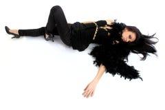 чернота ангела Стоковое Изображение
