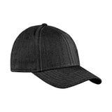 Чернота бейсбольной кепки, на изолированной белой предпосылке Стоковое Фото