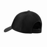 Чернота бейсбольной кепки, на изолированной белой предпосылке Стоковые Фото
