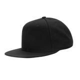 Чернота бейсбольной кепки, на изолированной белой предпосылке Стоковое Изображение