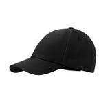 Чернота бейсбольной кепки, на изолированной белой предпосылке Стоковая Фотография
