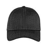 Чернота бейсбольной кепки, на изолированной белой предпосылке Стоковые Изображения RF
