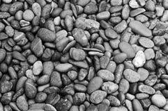 Чернота & белизна предпосылки моря каменные Стоковое Фото