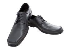 Чернота ботинок людей Стоковые Изображения RF
