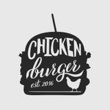 Чернота бургера Стоковая Фотография