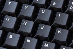 чернота близкая сфокусировала ключевой стоп клавиатуры вверх Стоковое фото RF