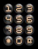 чернота застегивает комплект телефонов Стоковое фото RF