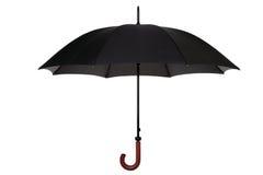 чернота изолировала зонтик Стоковая Фотография