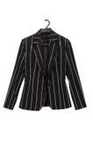 чернота изолировала striped куртку Стоковая Фотография RF