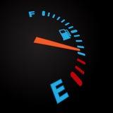 Чернота индикации топлива Стоковая Фотография