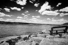 Чернота и ландшафт Уайта Стоковые Фото