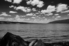 Чернота и ландшафт Уайта Стоковое Изображение RF