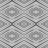 Чернота и бело- геометрическая акварель Фактическая безшовная картина Нашивки нарисованные рукой Текстура щетки Sightly орнамент  иллюстрация вектора