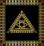 Чернота и диаграммы золота абстрактные Стоковое Изображение RF