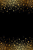 Чернота и рамка роскоши золота Стоковая Фотография