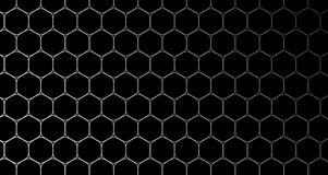 чернота и синь картины клетки предпосылки шестиугольника 4k иллюстрация вектора