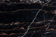 Чернота и текстура золота мраморная Стоковая Фотография