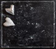Чернота карточки влюбленности Валентайн открытки s дня Войлок сердца Стоковое фото RF
