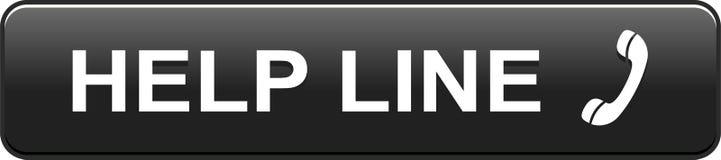 Чернота кнопки сети горячей линии бесплатная иллюстрация