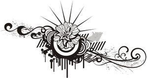 чернота конструирует флористическую белизну Стоковое Фото