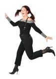 чернота красотки бежит женщина кабелей Стоковое Фото